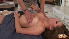 Gentle massage turns into fucking with obese MILF Alex Accident
