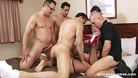 Intense group sex at hand one's wife