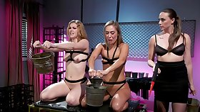 Best lesbian BDSM threesome with Chanel Preston, Ella Shooting star and Christy Love