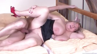chubby blonde milf Eva R. gets her pussy pounded from behind