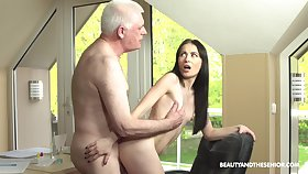 Roxy Sky loves fucking with her old but hornier than evermore friend