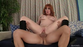 Redhead mommy wants the full cock in the ass ell