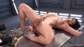 Ridiculous fuck machine unassisted experience for the Asian mom