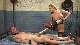Cherie DeVille straps a dildo gag on him with an increment of uses his element involving get absent