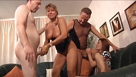 What battle-axe can resist a nice orgy coupled with these ladies are absolutely mature