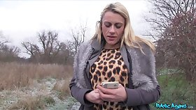 Obese bushwa for cum peckish blonde slut Brittany Bardot in the outdoors